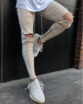 Stripes Street Style Joggers Jeans