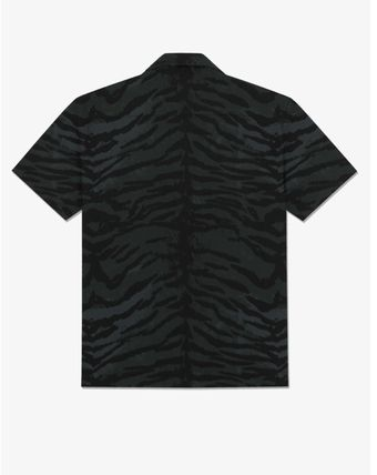Street Style Other Animal Patterns Short Sleeves Shirts