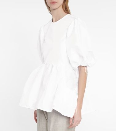 CECILIE BAHNSEN Casual Style Peplum Plain Short Sleeves Party Style