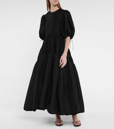 CECILIE BAHNSEN Casual Style Plain Long Short Sleeves Party Style