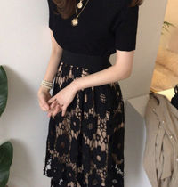 Flower Patterns Medium Party Style Lace Office Style