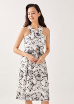 Love Bonito Flower Patterns Tropical Patterns Casual Style A-line