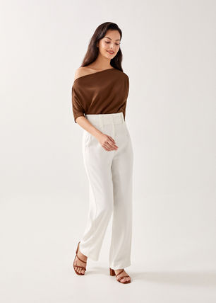 Love Bonito Off The Shoulder Casual Style Cropped Plain Medium Short Sleeves Party Style