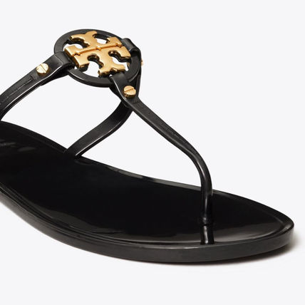 Tory Burch MILLER Platform Casual Style Enamel Plain Leather Party Style