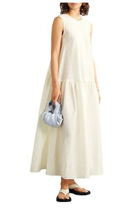 CECILIE BAHNSEN Casual Style Sleeveless Street Style Plain Long Party Style