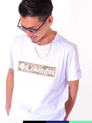 Columbia More T-Shirts Camouflage Unisex Plain Short Sleeves Logo Outdoor T-Shirts
