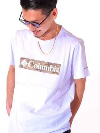 Columbia More T-Shirts Camouflage Unisex Plain Short Sleeves Logo Outdoor T-Shirts 2