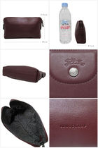 Longchamp Leather Bold Pouches & Cosmetic Bags