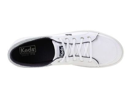 Stripes Round Toe Rubber Sole Lace-up Casual Style Unisex