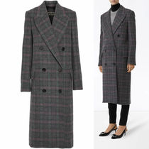 Burberry Other Plaid Patterns Wool Long Duffle Coats