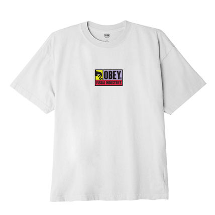 OBEY Crew Neck Crew Neck Pullovers Unisex Street Style Cotton Short Sleeves 3