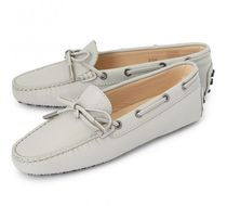 TOD'S Platform Casual Style Street Style Plain Leather