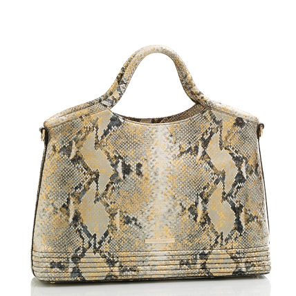 Brahmin Casual Style Leather Elegant Style Formal Style  Logo Totes