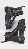 Dr Martens JADON Plain Toe Lace-up Casual Style Street Style Lace-up Boots