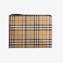 Burberry Unisex Street Style Clutches