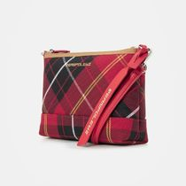 BEAN POLE Gingham Casual Style Office Style Crossbody Formal Style