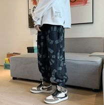 Street Style Cotton Oversized Slouch Pants Joggers Jeans