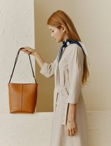 BEAN POLE Casual Style 2WAY Leather Office Style Crossbody