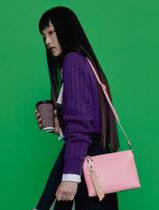 BEAN POLE Casual Style Leather Office Style Crossbody Formal Style