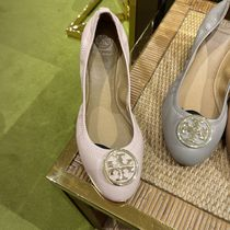 Tory Burch Leather Logo Ballet Shoes