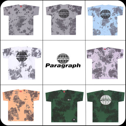 Paragraph More T-Shirts Unisex Street Style Short Sleeves Logo T-Shirts