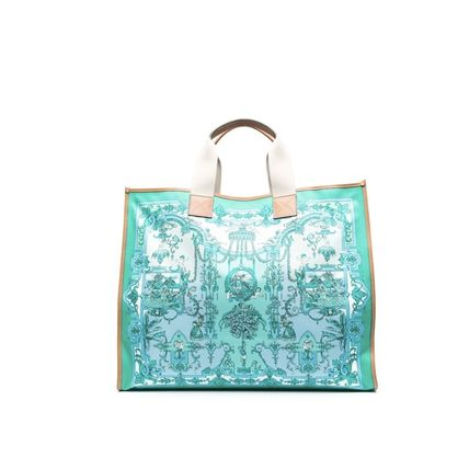 ETRO Totes Casual Style Canvas A4 Office Style Elegant Style Logo Totes 3