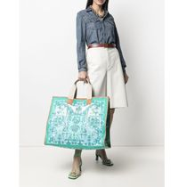 ETRO Totes Casual Style Canvas A4 Office Style Elegant Style Logo Totes 6