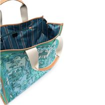 ETRO Totes Casual Style Canvas A4 Office Style Elegant Style Logo Totes 7