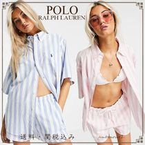 POLO RALPH LAUREN Stripes Casual Style Street Style Collaboration Cotton