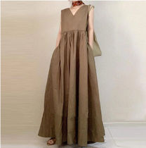 Casual Style Tight Maxi A-line Chiffon Dolman Sleeves