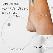 Ron Herman Unisex Chain Silver Anklets