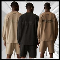 FEAR OF GOD ESSENTIALS Crew Neck Street Style Long Sleeves Cotton