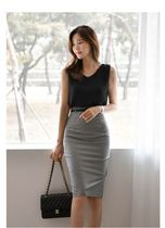 Pencil Skirts Other Plaid Patterns Casual Style Medium