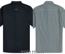 FRED PERRY Shirts Button-down Gingham Street Style Plain Cotton Short Sleeves 4