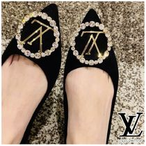 Louis Vuitton Casual Style Suede Plain Leather Party Style Elegant Style