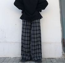 Other Plaid Patterns Street Style Oversized Pants