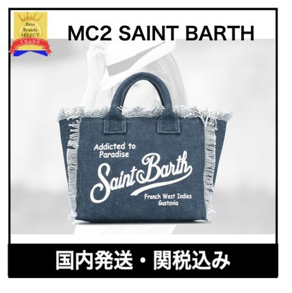 Casual Style Street Style Plain Logo Totes