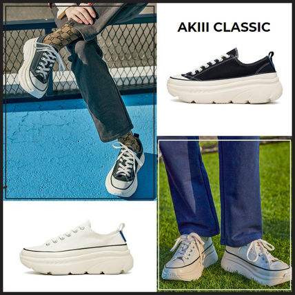 AKIII CLASSIC Low-Top Casual Style Unisex Street Style Plain Logo Low-Top Sneakers