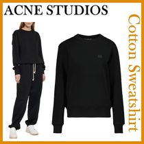 Ance Studios Crew Neck Casual Style Studded Street Style Long Sleeves