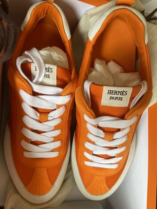 HERMES Course 21AW Course Street Style Leather Sneakers