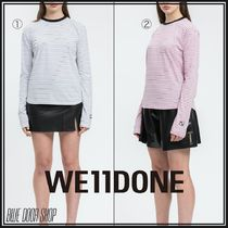 We11Done Crew Neck Stripes Long Sleeves Cotton Long Sleeve T-shirt