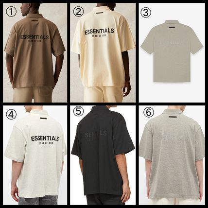FEAR OF GOD ESSENTIALS Street Style Cotton Short Sleeves Logo Polos