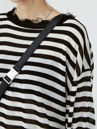 Raucohouse Sweaters Stripes Unisex Street Style Collaboration Long Sleeves Plain 3