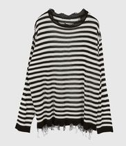 Raucohouse Sweaters Stripes Unisex Street Style Collaboration Long Sleeves Plain 16