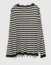 Raucohouse Sweaters Stripes Unisex Street Style Collaboration Long Sleeves Plain 17
