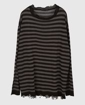 Raucohouse Sweaters Stripes Unisex Street Style Collaboration Long Sleeves Plain 18