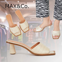 Max&Co. Open Toe Casual Style Other Animal Patterns Leather