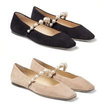 Jimmy Choo Square Toe Platform Casual Style Suede Handmade Party Style