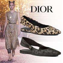 Christian Dior Leopard Patterns Casual Style Blended Fabrics Leather