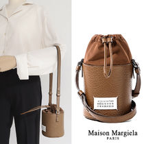 Maison Margiela Casual Style Calfskin Street Style 2WAY Party Style